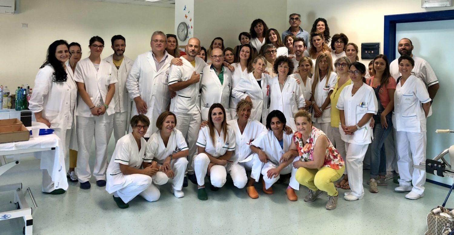 Il team di Neurologia e Riabilitazione Ospedale di Foligno